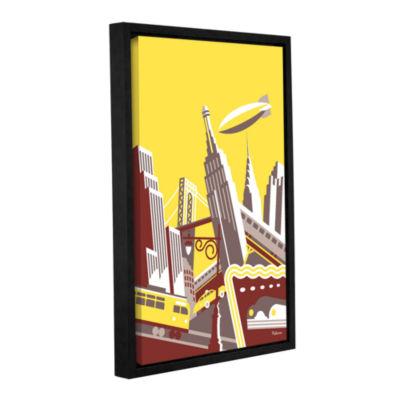 Brushstone Manhattan Gallery Wrapped Floater-Framed Canvas Wall Art