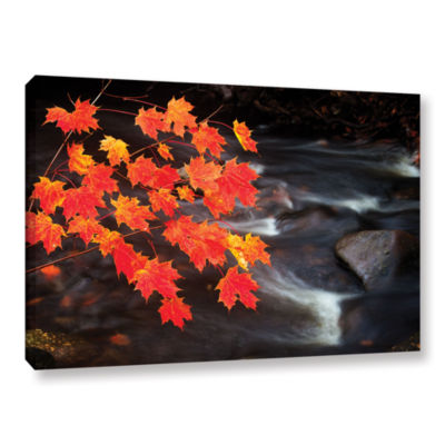 Brushstone Maple Leaves Gallery Wrapped Canvas Wall Art