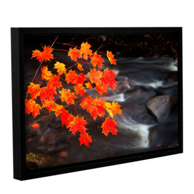 Brushstone Maple Leaves Gallery Wrapped Floater-Framed Canvas Wall Art
