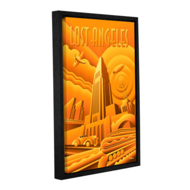 Brushstone Lost Angeles Gallery Wrapped Floater-Framed Canvas Wall Art