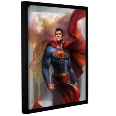 Brushstone Man Of Steel Gallery Wrapped Floater-Framed Canvas Wall Art