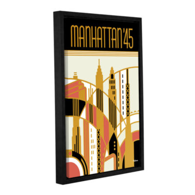 Brushstone Manhattan '45 Gallery Wrapped Floater-Framed Canvas Wall Art