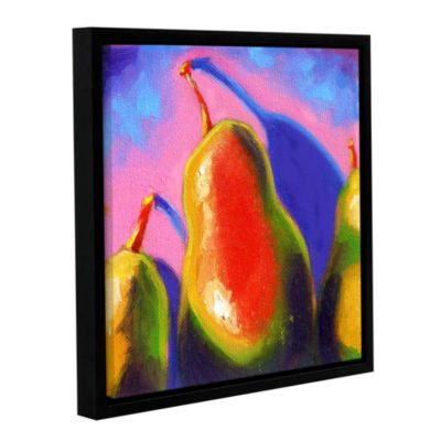 Brushstone Pearfect Shadow Gallery Wrapped Floater-Framed Canvas Wall Art