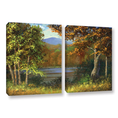 Brushstone Mountain Pond 2-pc. Gallery Wrapped Canvas Wall Art