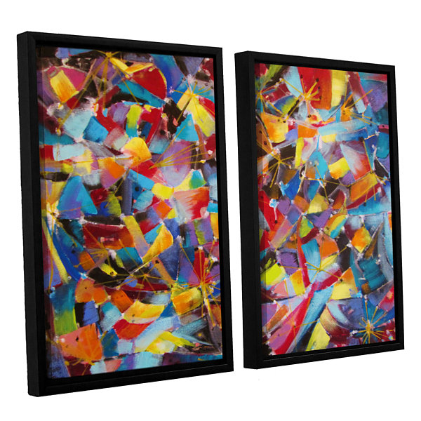 Brushstone Particle Collision 2-pc. Floater FramedCanvas Wall Art