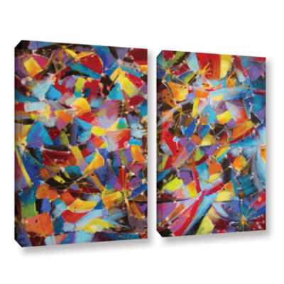 Brushstone Particle Collision 2-pc. Gallery Wrapped Canvas Wall Art