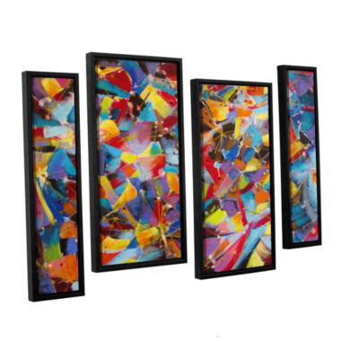 Brushstone Particle Collision 4-pc. Floater FramedStaggered Canvas Wall Art