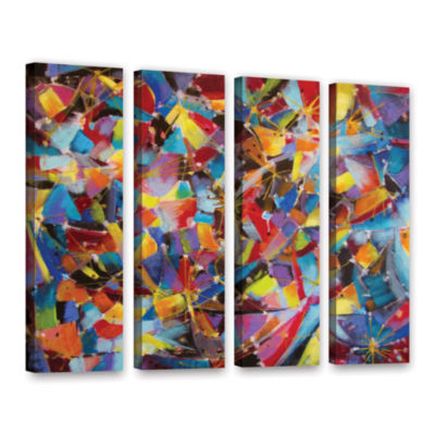 Brushstone Particle Collision 4-pc. Gallery Wrapped Canvas Wall Art