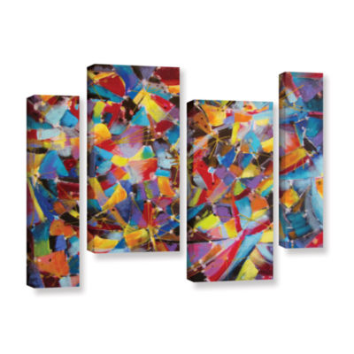 Brushstone Particle Collision 4-pc. Gallery Wrapped Staggered Canvas Wall Art