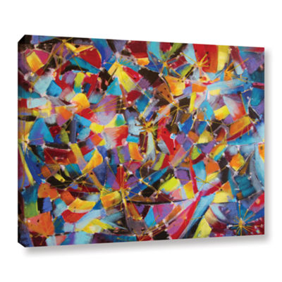 Brushstone Particle Collision Gallery Wrapped Canvas Wall Art