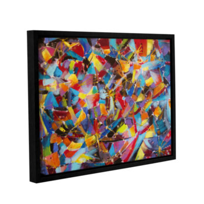 Brushstone Particle Collision Gallery Wrapped Floater-Framed Canvas Wall Art
