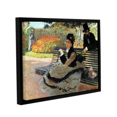 Brushstone Park Bench Gallery Wrapped Floater-Framed Canvas Wall Art