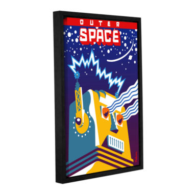 Brushstone Outer Space Gallery Wrapped Floater-Framed Canvas Wall Art