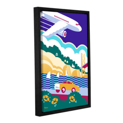 Brushstone Paleft Gallery Wrapped Floater-Framed Canvas Wall Art