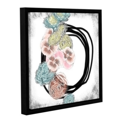 Brushstone Pansies Gallery Wrapped Floater-FramedCanvas Wall Art