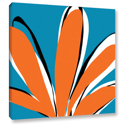 Brushstone Palm Gallery Wrapped Canvas Wall Art