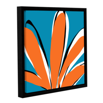 Brushstone Palm Gallery Wrapped Floater-Framed Canvas Wall Art