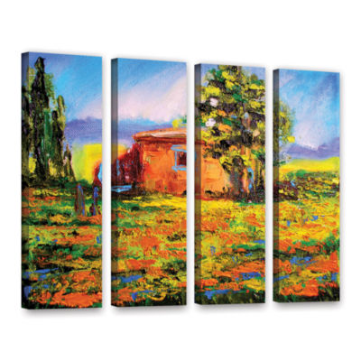 Brushstone Prarie Palace 4-pc. Gallery Wrapped Canvas Wall Art