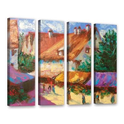 Brushstone Rhone Village Market 4-pc. Gallery Wrapped Canvas Wall Art