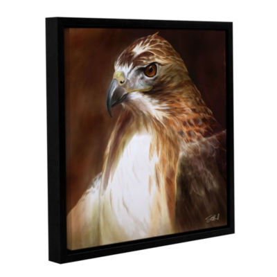 Brushstone Red-Tailed Hawk Gallery Wrapped Floater-Framed Canvas Wall Art