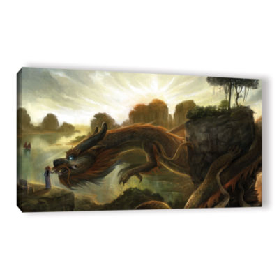 Brushstone Rise Gallery Wrapped Canvas Wall Art