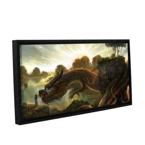 Brushstone Rise Gallery Wrapped Floater-Framed Canvas Wall Art