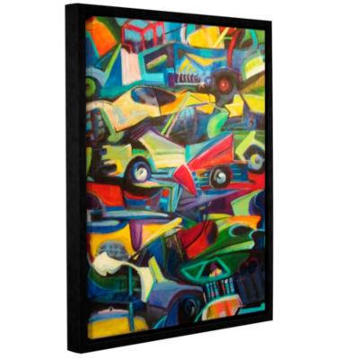 Brushstone Pile Up Gallery Wrapped Floater-FramedCanvas Wall Art