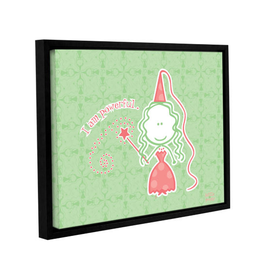 Brushstone Princess- I Am Powerful Gallery WrappedFloater-Framed Canvas Wall Art
