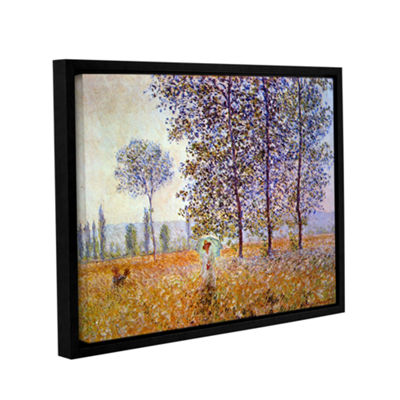 Brushstone Poplars Gallery Wrapped Floater-FramedCanvas Wall Art