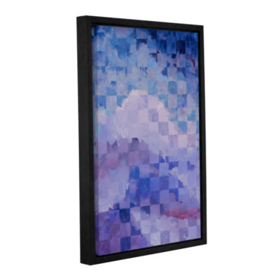 Brushstone Rain Gallery Wrapped Floater-Framed Canvas Wall Art
