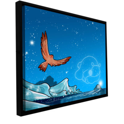 Brushstone Polar 3 Gallery Wrapped Floater-FramedCanvas Wall Art