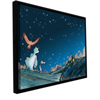 Brushstone Polar 4 Gallery Wrapped Floater-FramedCanvas Wall Art