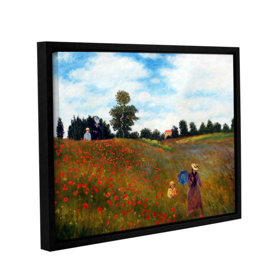 Brushstone Red Poppies Iat Argenteuil Gallery Wrapped Floater-Framed Canvas Wall Art