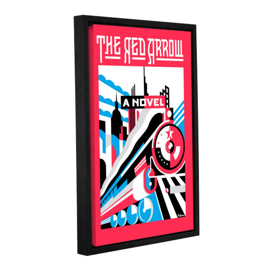 Brushstone Red Arrow Gallery Wrapped Floater-Framed Canvas Wall Art