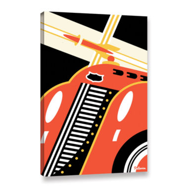 Brushstone Red Car Gallery Wrapped Canvas Wall Art