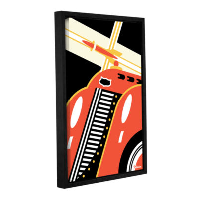 Brushstone Red Car Gallery Wrapped Floater-FramedCanvas Wall Art