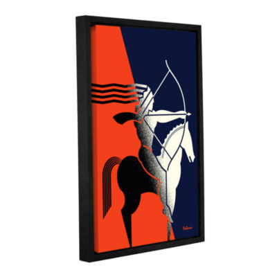 Brushstone Rider Gallery Wrapped Floater-Framed Canvas Wall Art