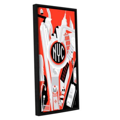 Brushstone Riv 2 Gallery Wrapped Floater-Framed Canvas Wall Art