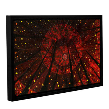 Brushstone Red October Gallery Wrapped Floater-Framed Canvas Wall Art