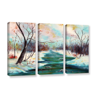Brushstone Reflections Of Worship 3-pc. Gallery Wrapped Canvas Wall Art