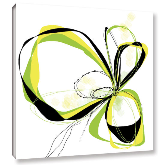 Brushstone Ribbons 2 Gallery Wrapped Canvas Wall Art