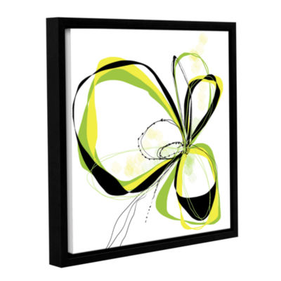 Brushstone Ribbons 2 Gallery Wrapped Floater-Framed Canvas Wall Art