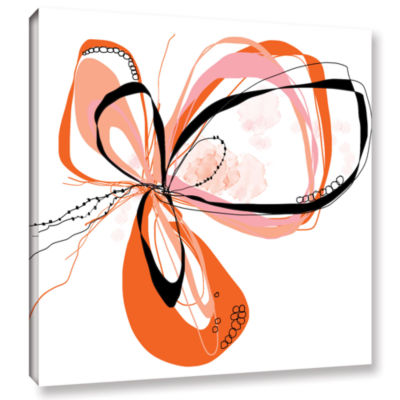 Brushstone Ribbons 3 Gallery Wrapped Canvas Wall Art