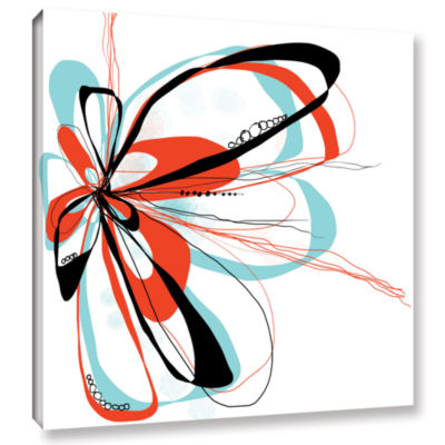 Brushstone Ribbons 4 Gallery Wrapped Canvas Wall Art