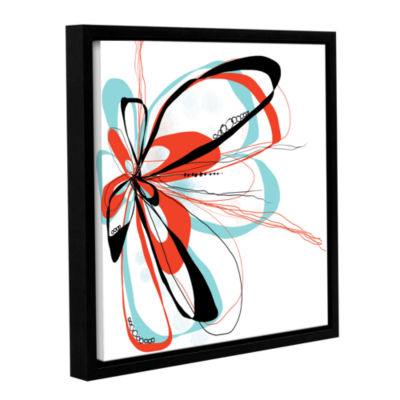Brushstone Ribbons 4 Gallery Wrapped Floater-Framed Canvas Wall Art