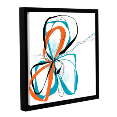 Brushstone Ribbons Gallery Wrapped Floater-FramedCanvas Wall Art