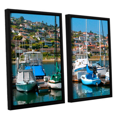 Brushstone Point Loma  Sd 2-pc. Floater Framed Canvas Wall Art
