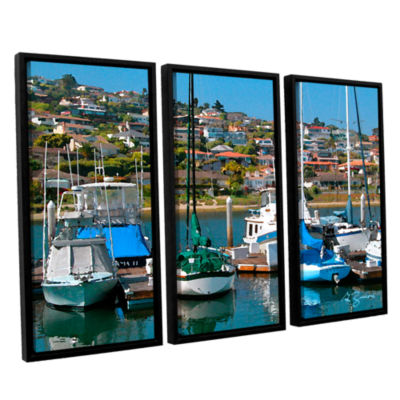 Brushstone Point Loma Sd 3-pc. Floater Framed Canvas Wall Art