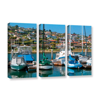 Brushstone Point Loma  Sd 3-pc. Gallery Wrapped Canvas Wall Art