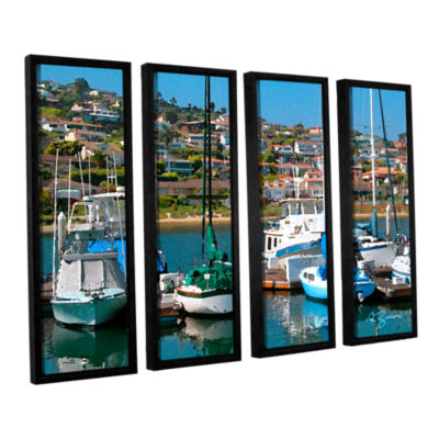Brushstone Point Loma Sd 4-pc. Floater Framed Canvas Wall Art